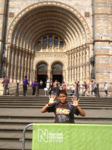 boy reviews the natural history museum london