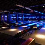 Bowling lanes at Queens Ice and Bowl