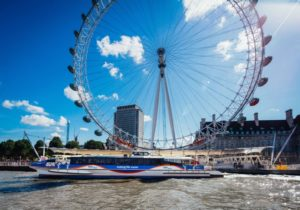 MBNA Thames Clippers river thames london eye