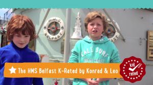 Konrad and Leo K-Rate the HMS Belfast