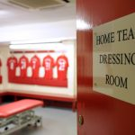 Dressing Room at Liverpool FC Anfield Stadium