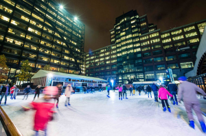 Broadgate Ice rink ice skating