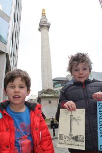 Jack & Oscar with their Monument Certificates