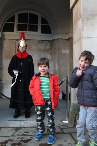 Oscar and Jack at the Horse Guards Parade