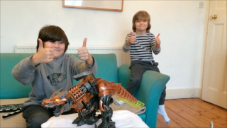 Transformers Age of Extinction Stomp and Chomp Grimlock