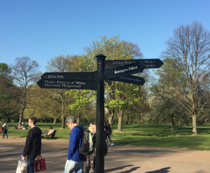 Kensington Garden Sign post KidRated London