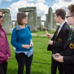 Year 8 pupils from Stonehenge School launching Takeover Day for Kids In Museums