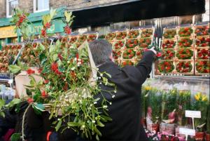 Columbia Road flower market christmas