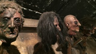 fake beheaded heads at the Clink Prison museum london
