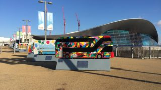the aquatics centre at the Olympic Park