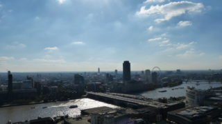 View from St Pauls over the river thames london