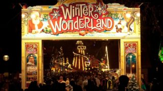 Winter wonderland at night