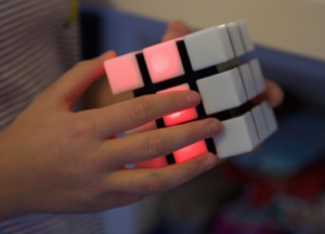 close up of rubik's spark cube, runners up prize in k-rate and win competition