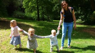 3 little ladies and me mother and daughters in sunny park kidrated