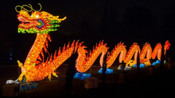 The Dragon at the Magical Lantern Festival, Chiswick House