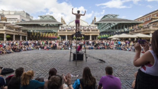 street performer wows crowds at Covent Garden